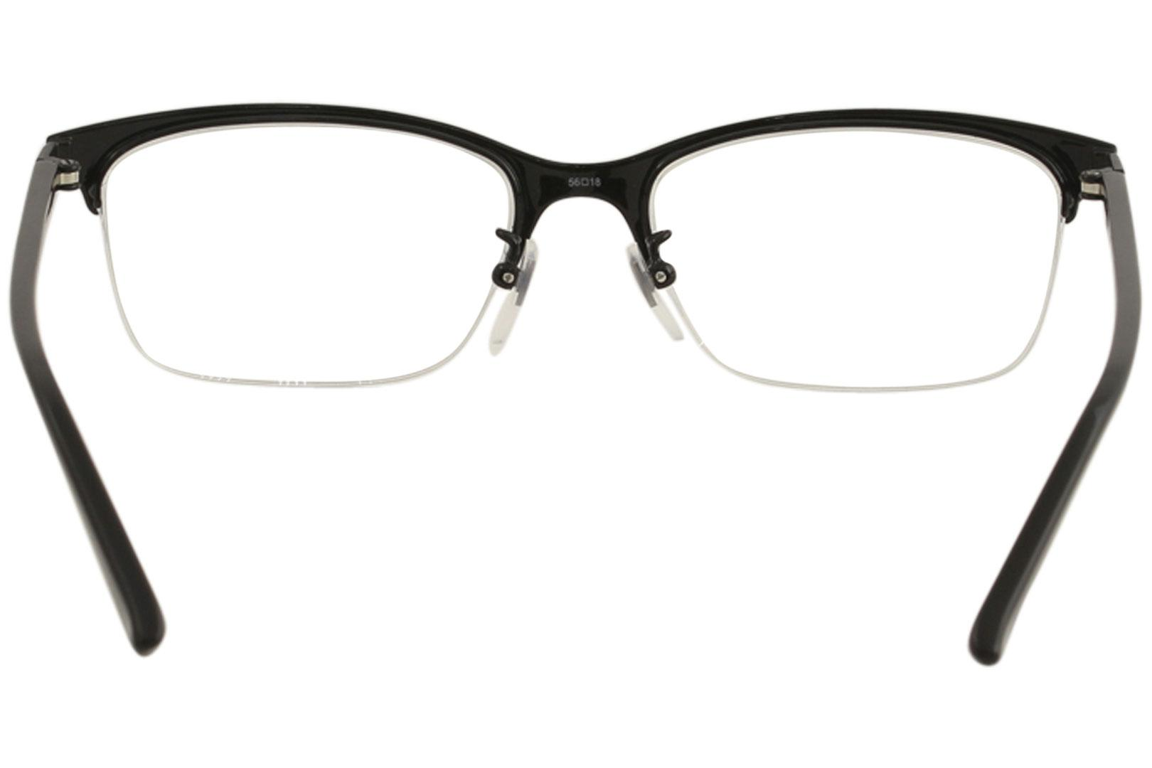 Gucci Men\'s Eyeglasses GG0132OJ GG/0132/OJ Half Rim Titanium Optical ...