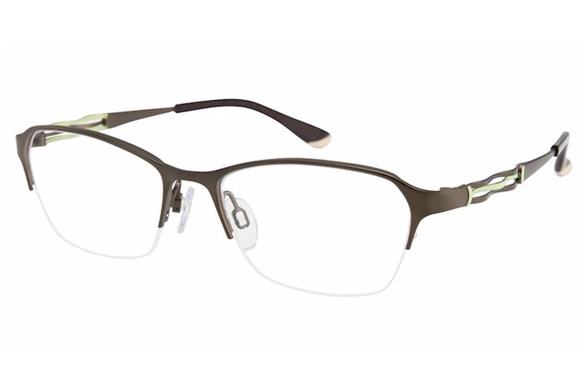 Charmant Perfect Comfort Eyeglasses Ti 10604 Titanium Half Rim Optical Frame