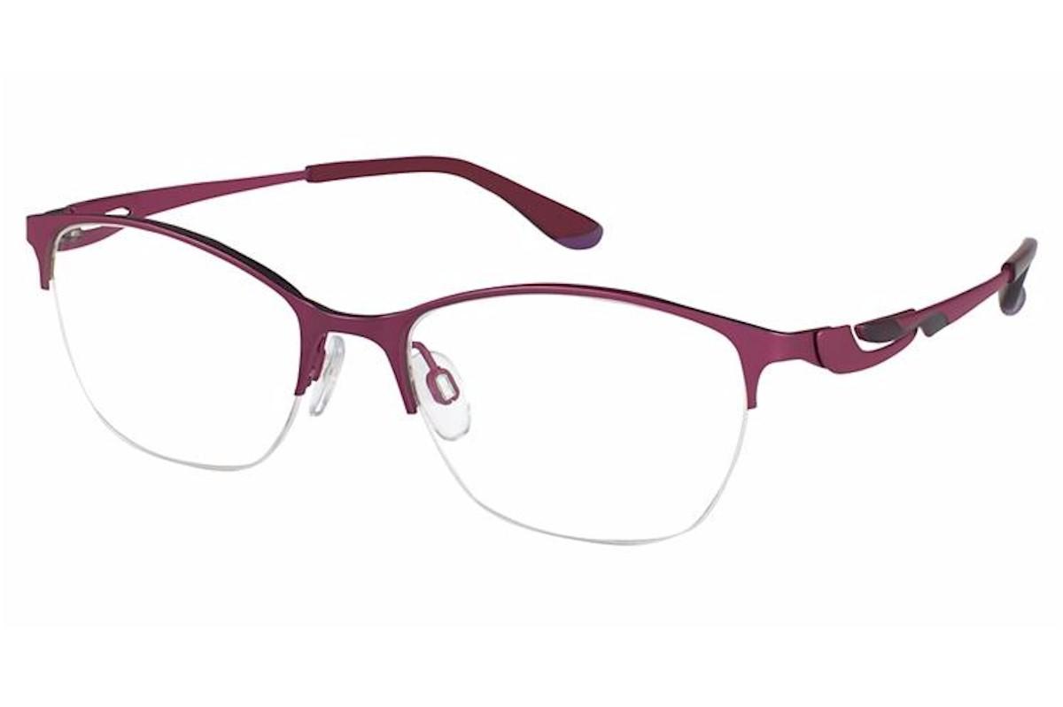 Charmant Perfect Comfort Eyeglasses Ti 10606 Titanium Half Rim Optical Frame