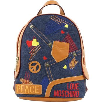 Love Moschino Women's Patched & Embroidered Denim Backpack UPC: