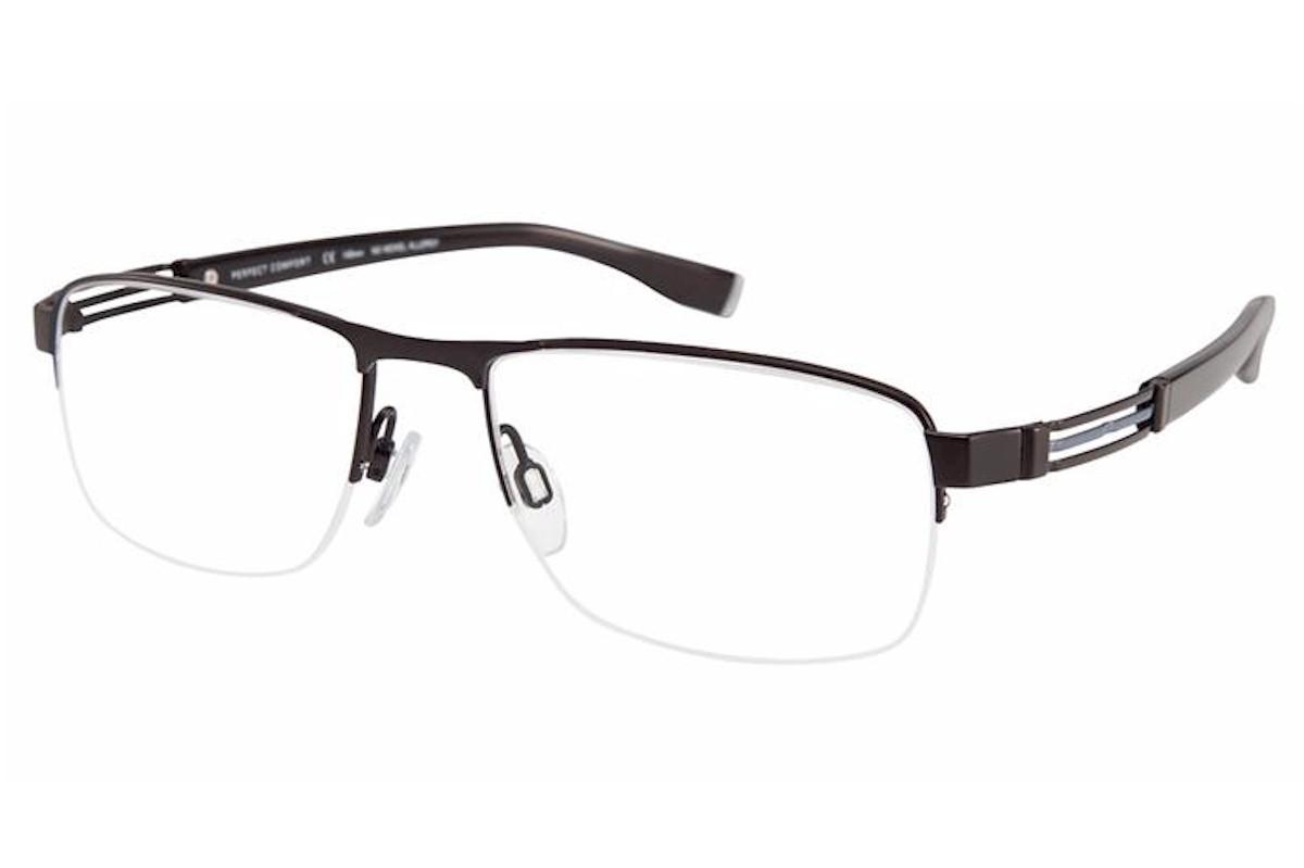 Charmant Perfect Comfort Eyeglasses Ti 12305 Titanium Half Rim Optical Frame
