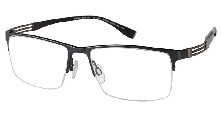 Charmant Perfect Comfort Eyeglasses Ti 12308x Titanium Half Rim Optical Frame