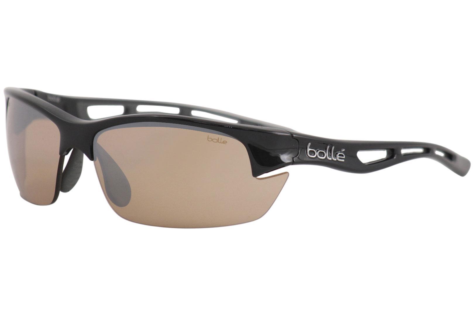 f8f33ba323 Bolle Men's Bolt-S 11781 Shiny Black Sport Rectangle Sunglasses 53mm ...