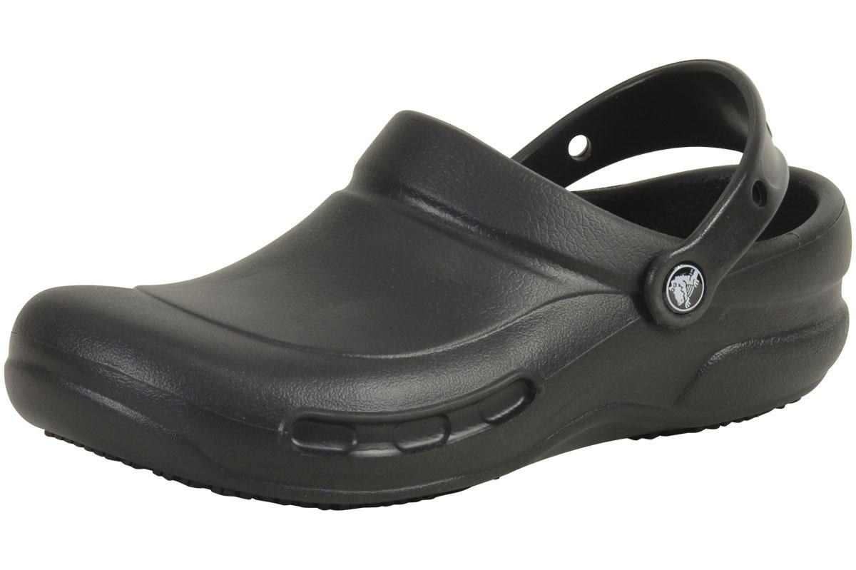 Image of Crocs At Work Bistro Slip Resistant Clogs Sandals Shoes - Black - 13 D(M) US