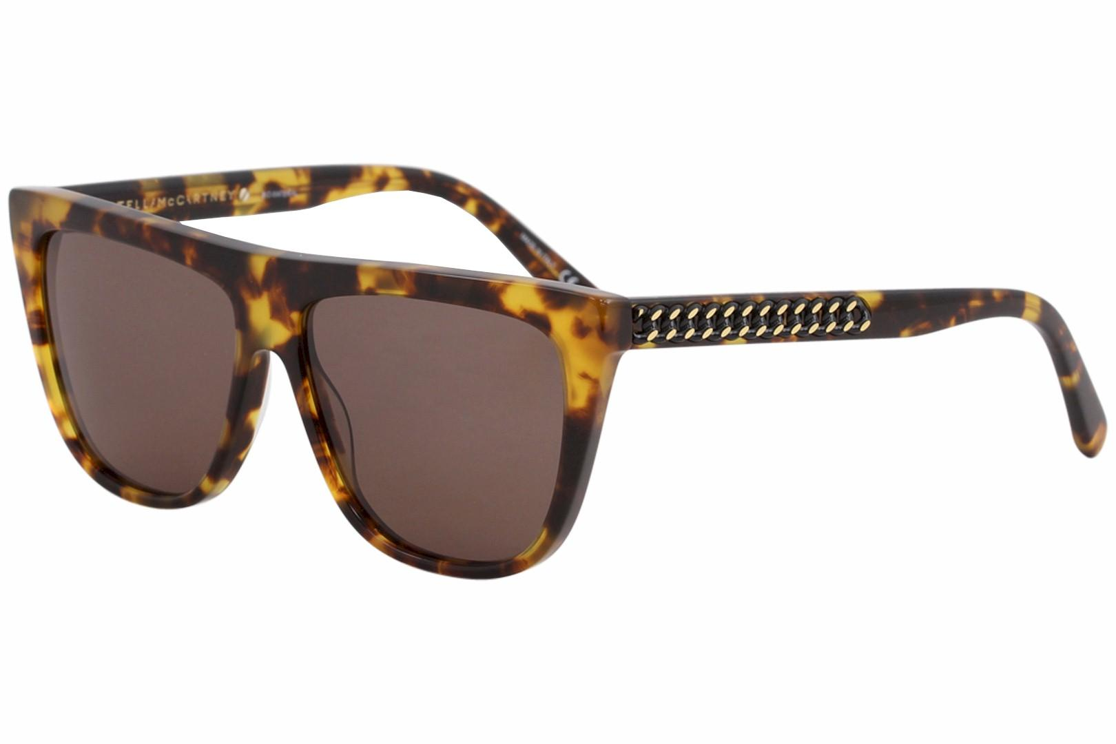 Image of Stella McCartney Falabella SC0149S SC/0149/S 003 Havana Square Sunglasses 56mm - Havana/Brown   003 - Lens 56 Bridge 14 Temple 145mm