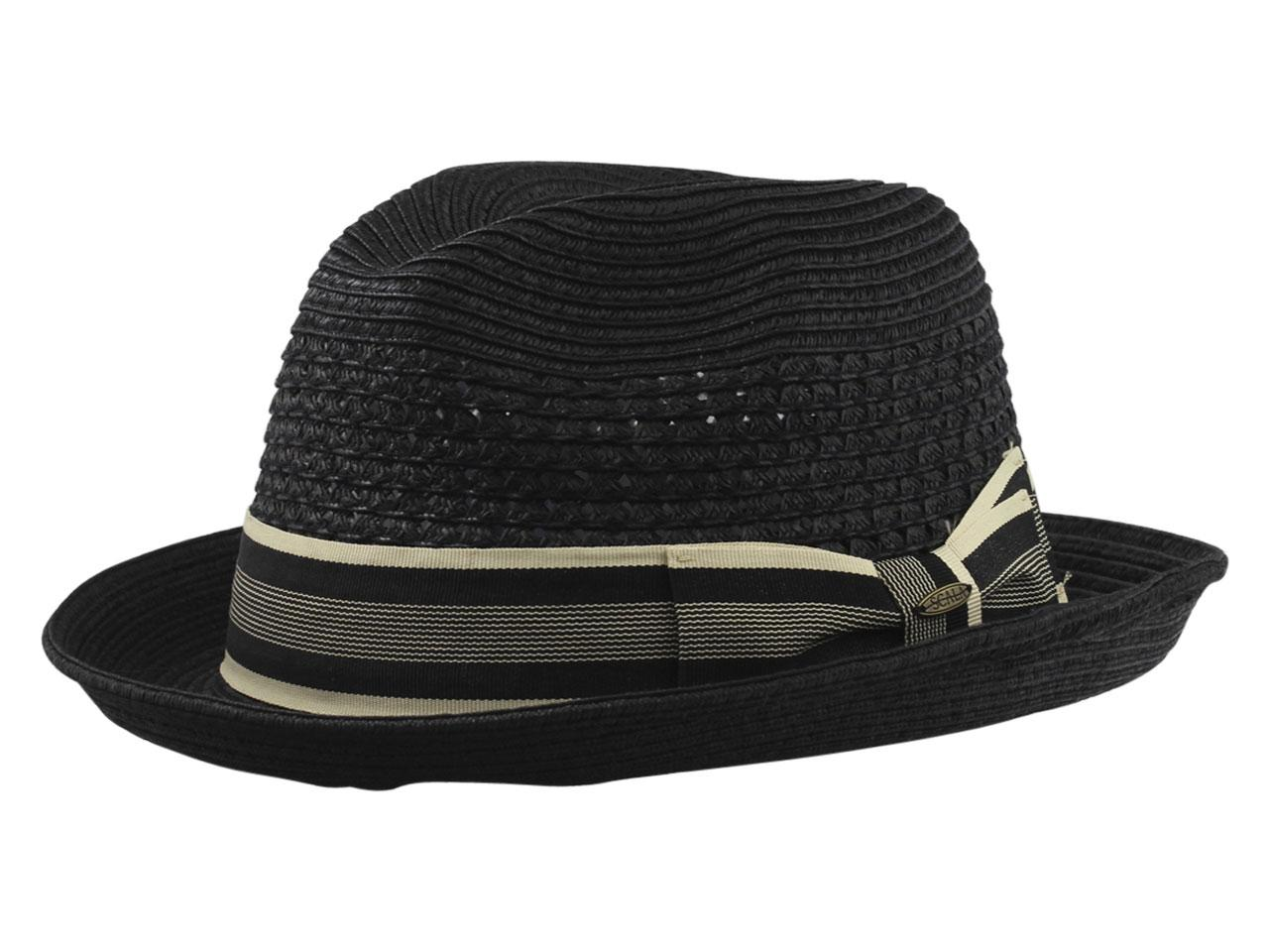 c2f9a4dc43c Scala Men's Paper Braid Toyo Fedora Hat