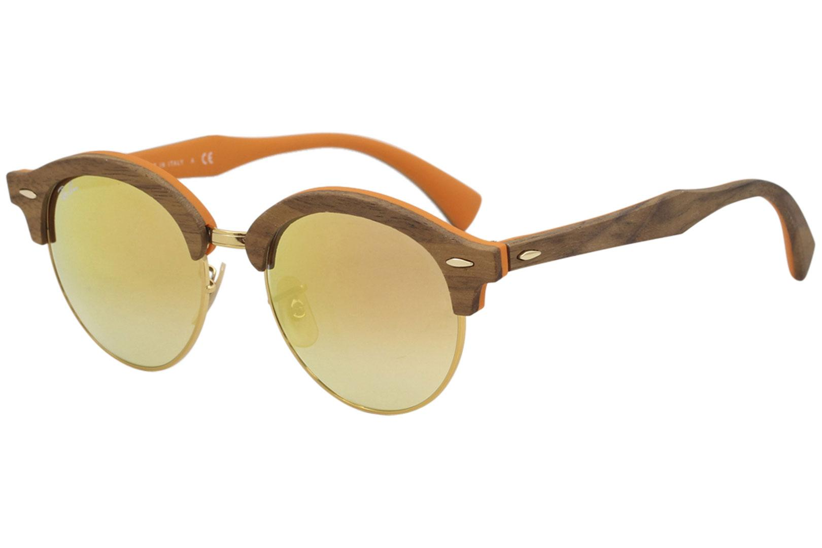 64fb7459c00a5 Ray Ban Men s Club Round Wood RB4246M RB 4246 M RayBan Fashion Sunglasses