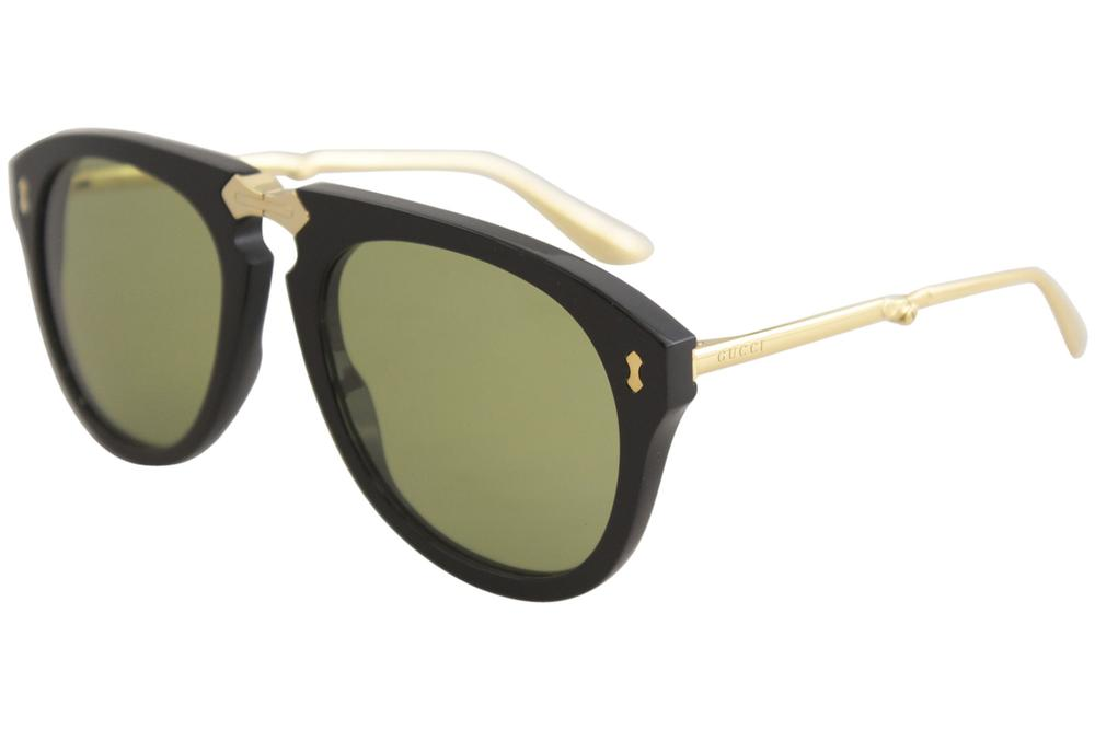 Gucci Women's GG0305S GG/0305/S Fashion Pilot Folding Sunglasses