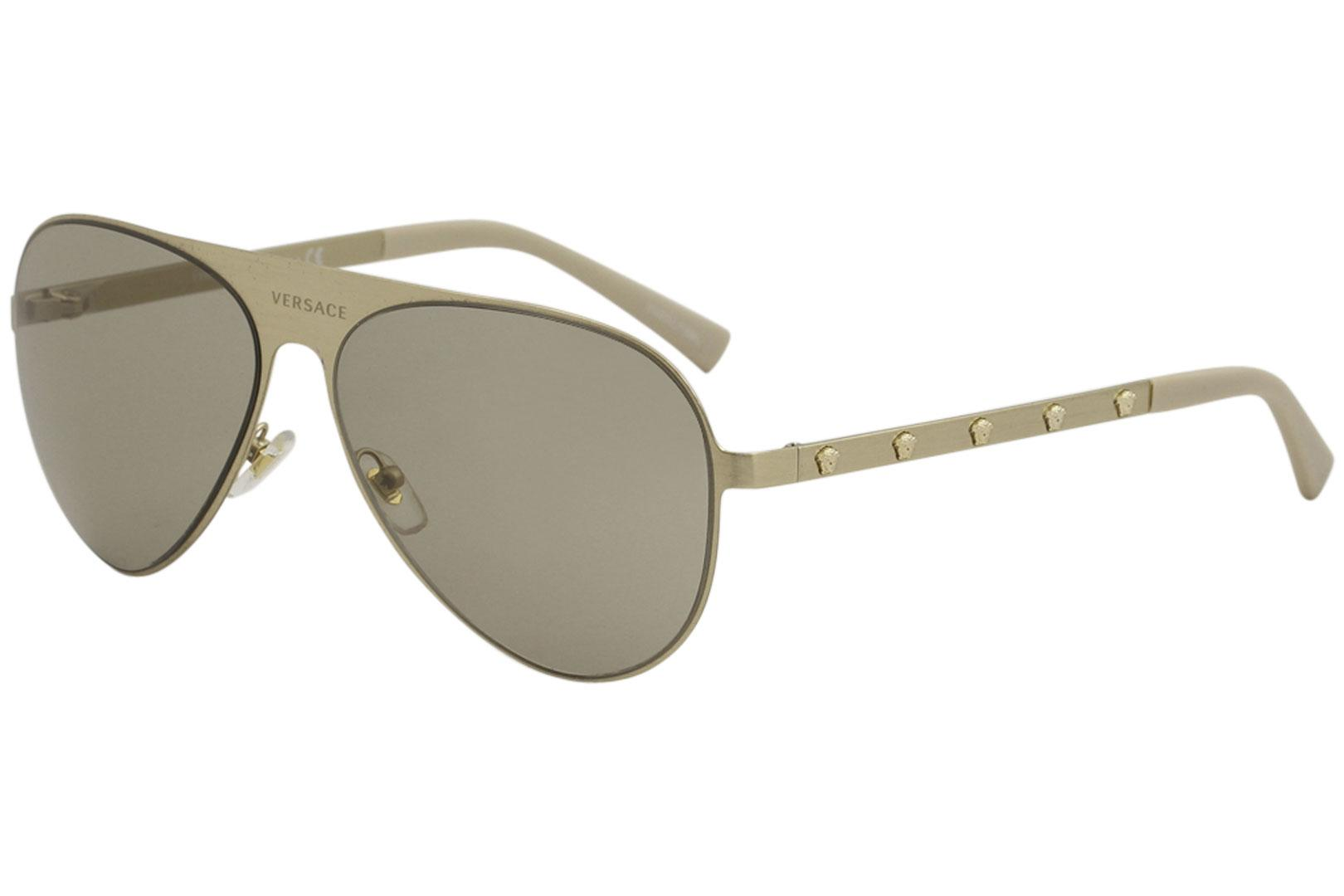Versace VE2189 VE 2189 1339 3 Brushed Pale Gold Fashion Pilot ... da516c5252