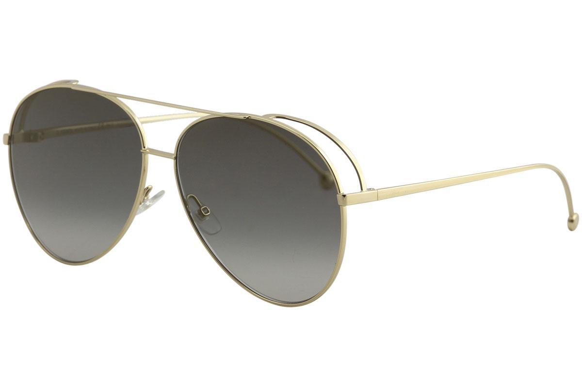 Fendi Women's FF0286/S FF/0286/S Fashion Pilot Sunglasses