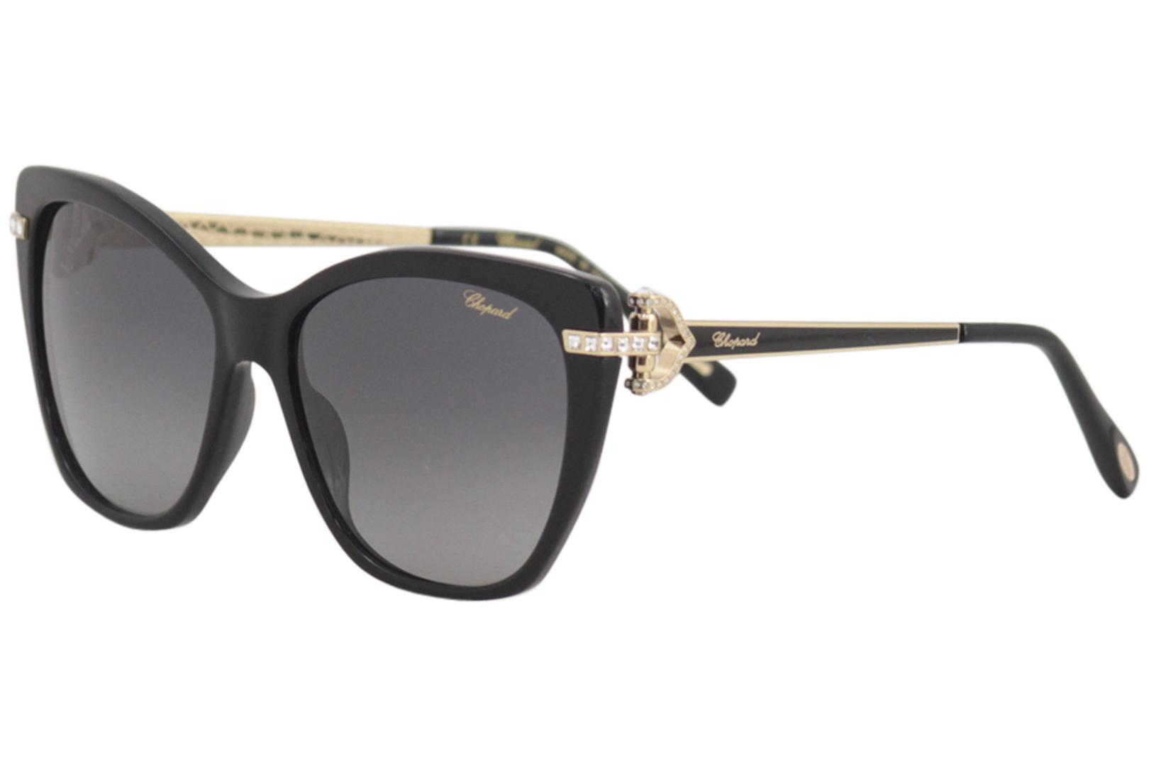 8835ed1c73 Chopard Women s SCH232S SCH 232 S Fashion Cat Eye Polarized Sunglasses