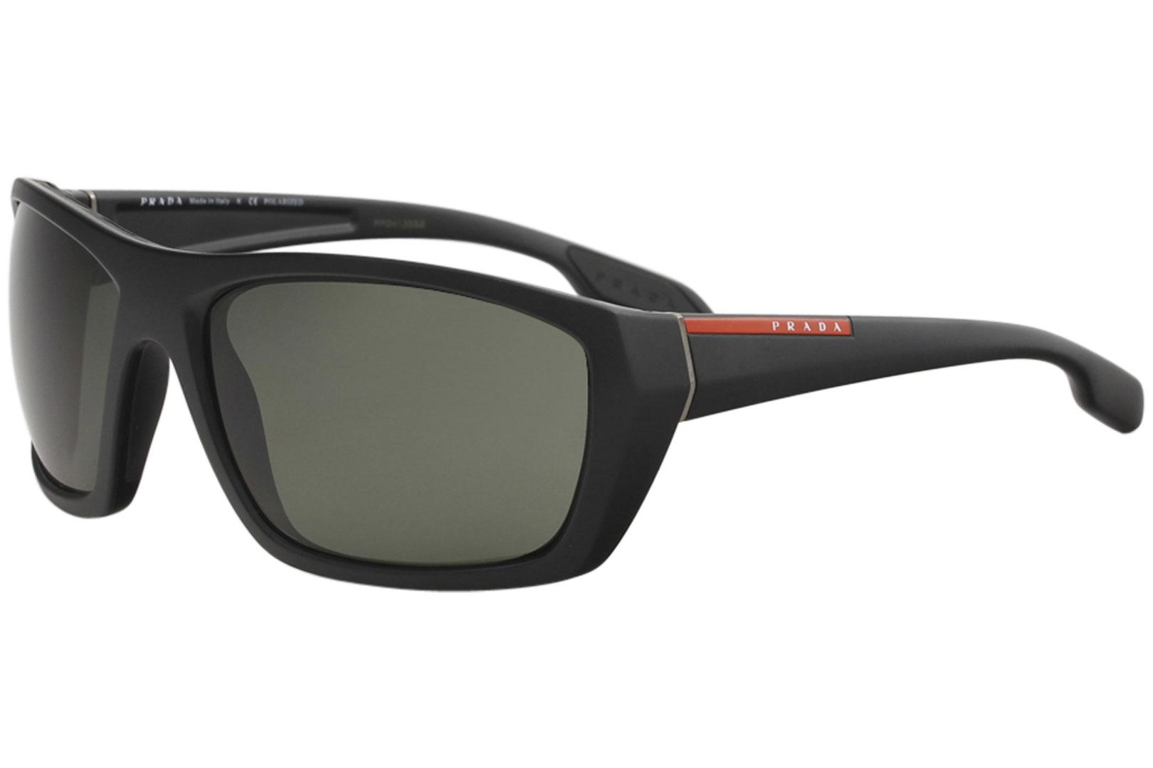 b164fe589d66 Prada Linea Rossa Men s SPS06S SPS 06S Fashion Rectangle Polarized  Sunglasses