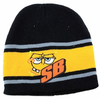 Nickelodeon Spongebob Squarepants Knit Beanie Hat & Gloves Set Sz. 4-7  UPC: