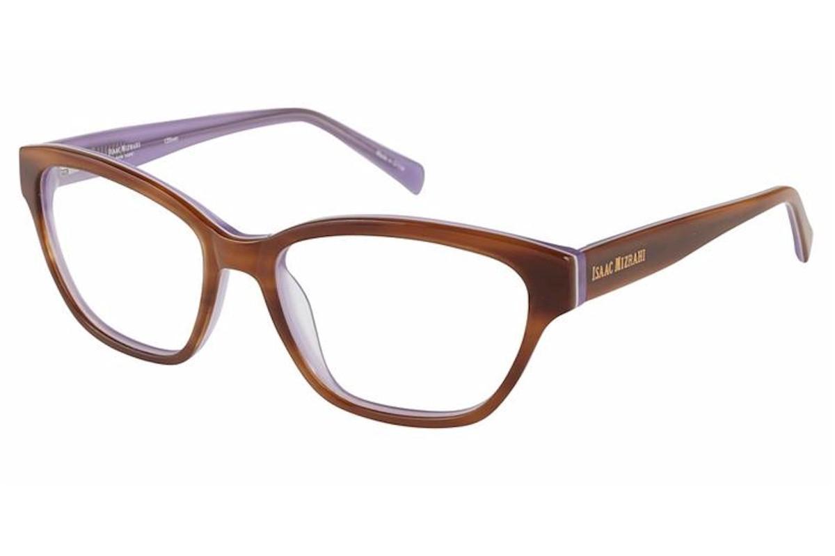 Image of Isaac Mizrahi Women's Eyeglasses IM30013 IM/30013 Full Rim Optical Frame - Brown - Lens 53 Bridge 16 Temple 135mm