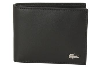 Lacoste Men's Fitzgerald Genuine Leather ID Holder Wallet