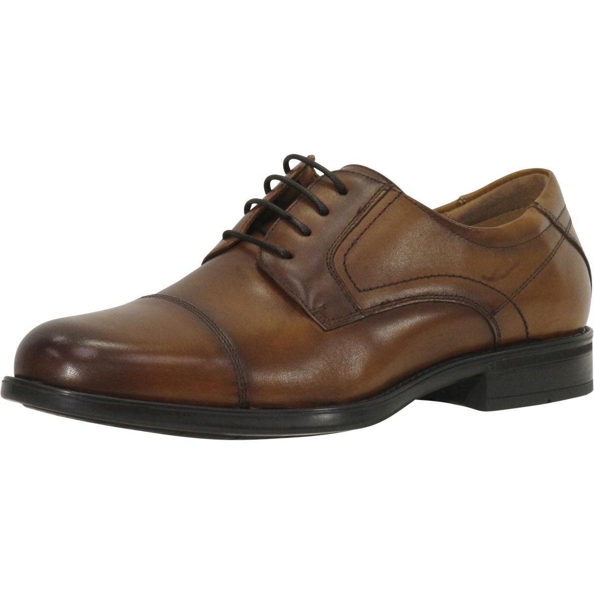 Image of Florsheim Comfortech Men's Midtown Cap Toe Oxfords Shoes - Cognac - 10.5 D(M) US