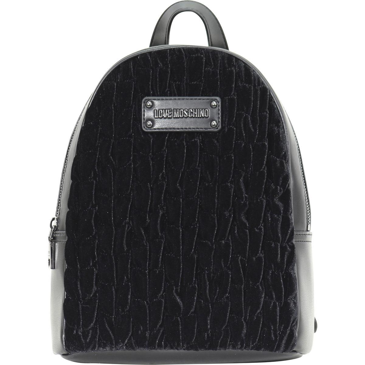 694fae3c6e Love Moschino Women's Gathered Velvet Backpack Bag