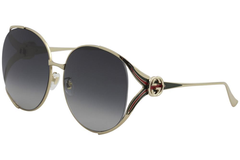 882f5c5e753 Gucci Women s GG0225S GG 0225 S Fashion Round Sunglasses