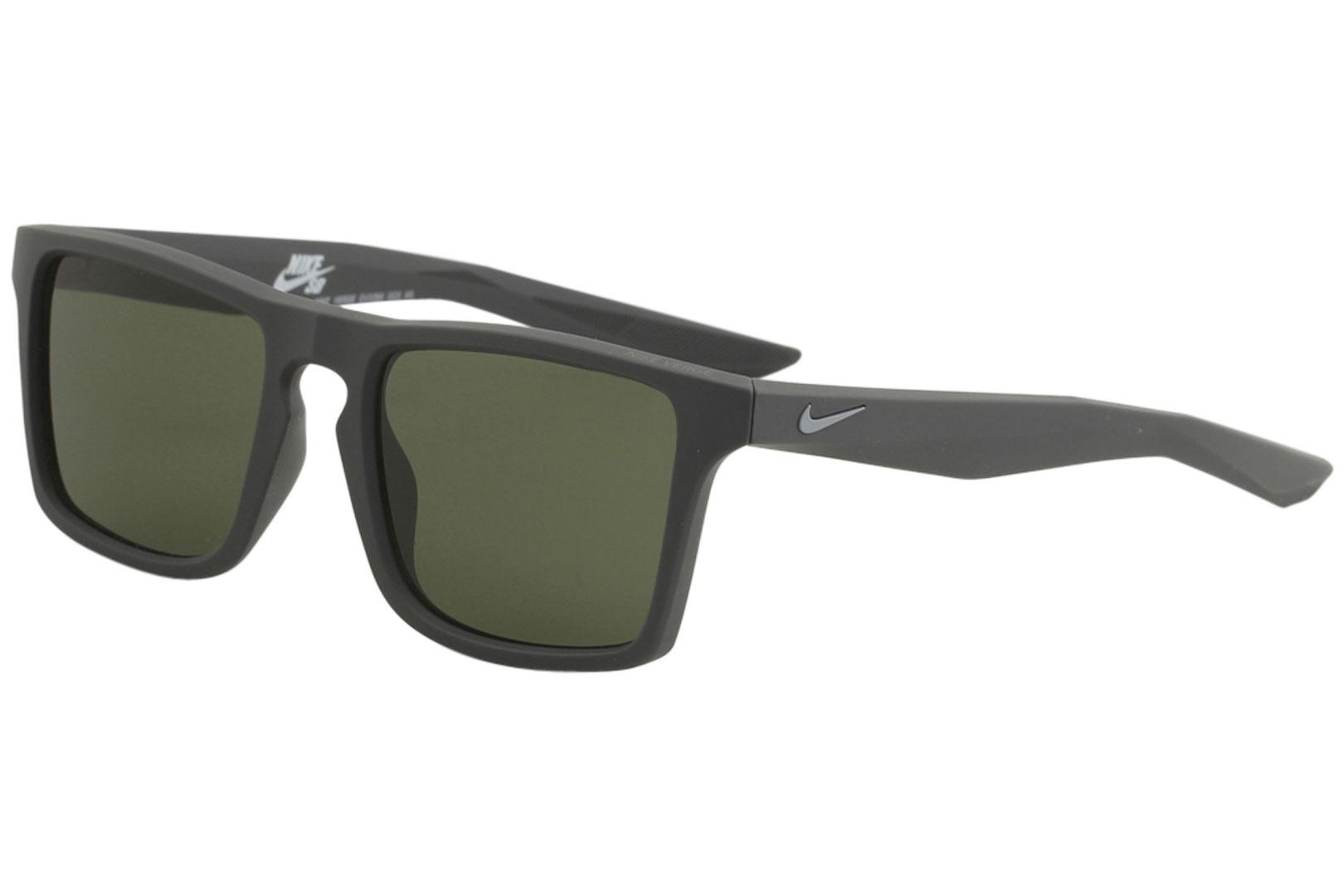 Image of Nike SB Men's Verge EV1059 EV/1059 Sport Square Sunglasses - Anthracite Cool Grey/Green   003 - Lens 52 Bridge 19 Temple 145mm