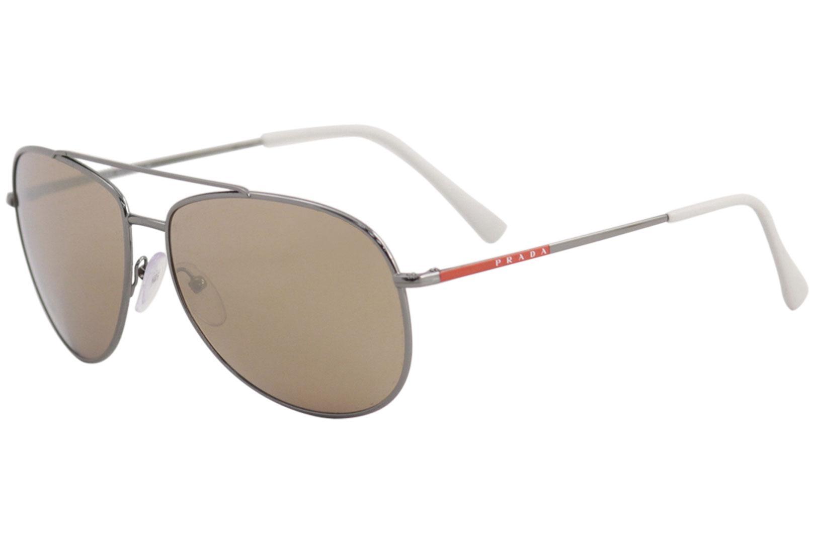 e4f1ef00c695 Prada Men s Linea Rossa SPS55U SPS 55 U Fashion Pilot Sunglasses