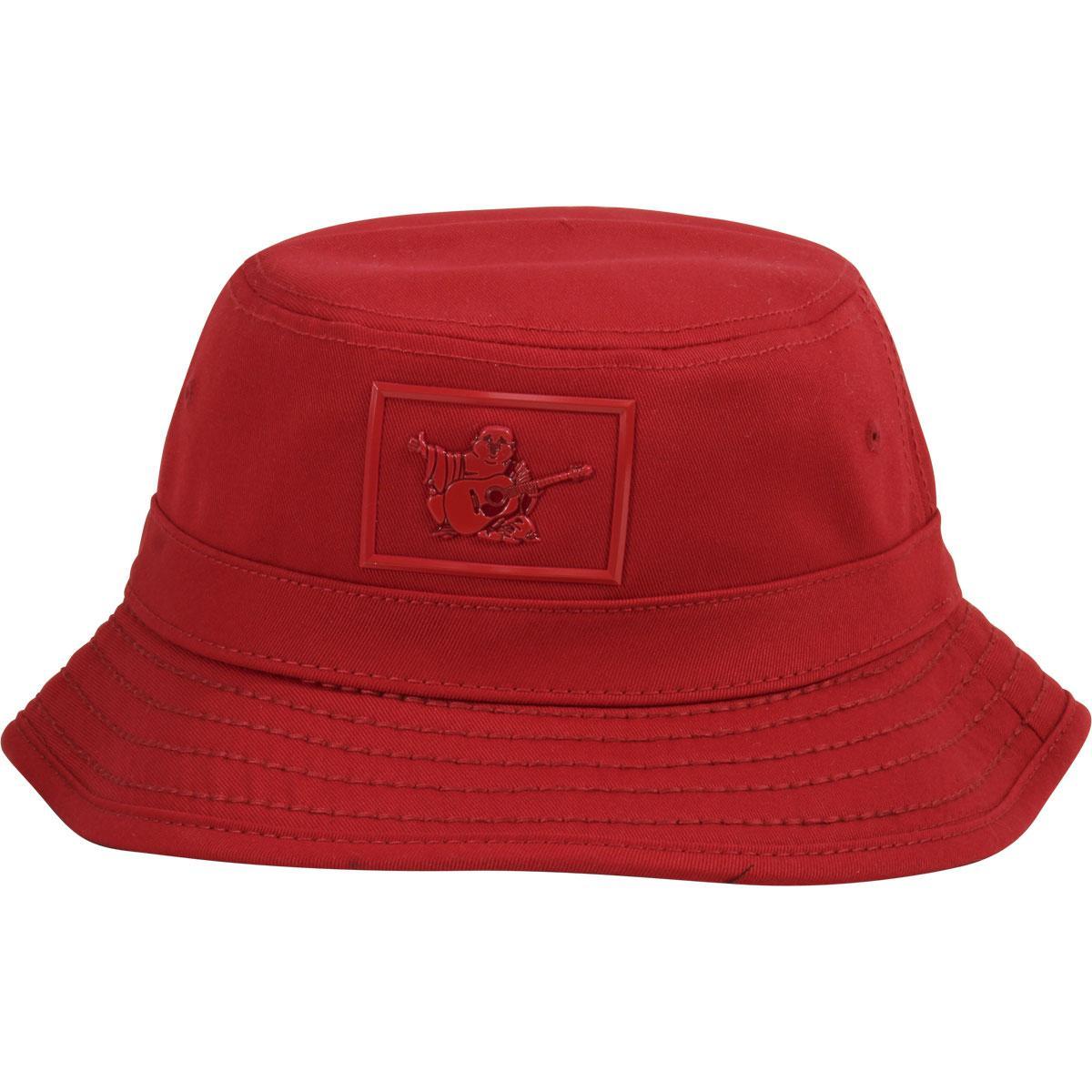 e8a010bb1cdbd True Religion Men s Shiny Buddha Cotton Bucket Hat