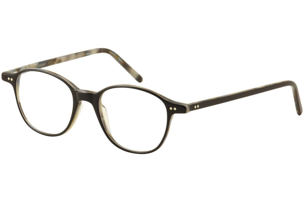 Image of Lafont Reedition Women's Eyeglasses Villon Full Rim Optical Frame - Black/Ivory Havana   1039  -  Lens 48 Bridge 17 Temple 145mm