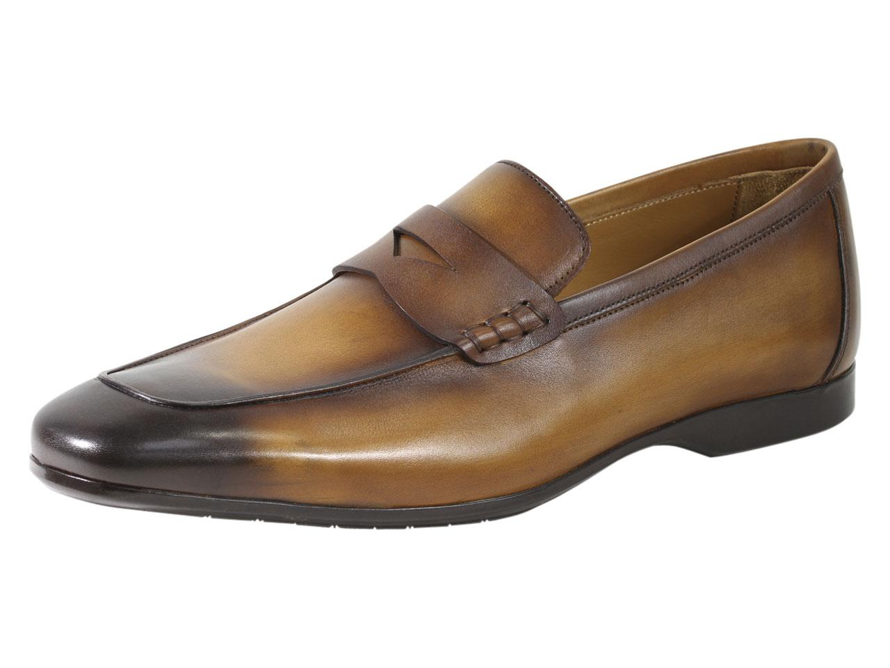 Image of Bruno Magli Men's Margot Penny Loafers Shoes - Brown - 9.5 D(M) US
