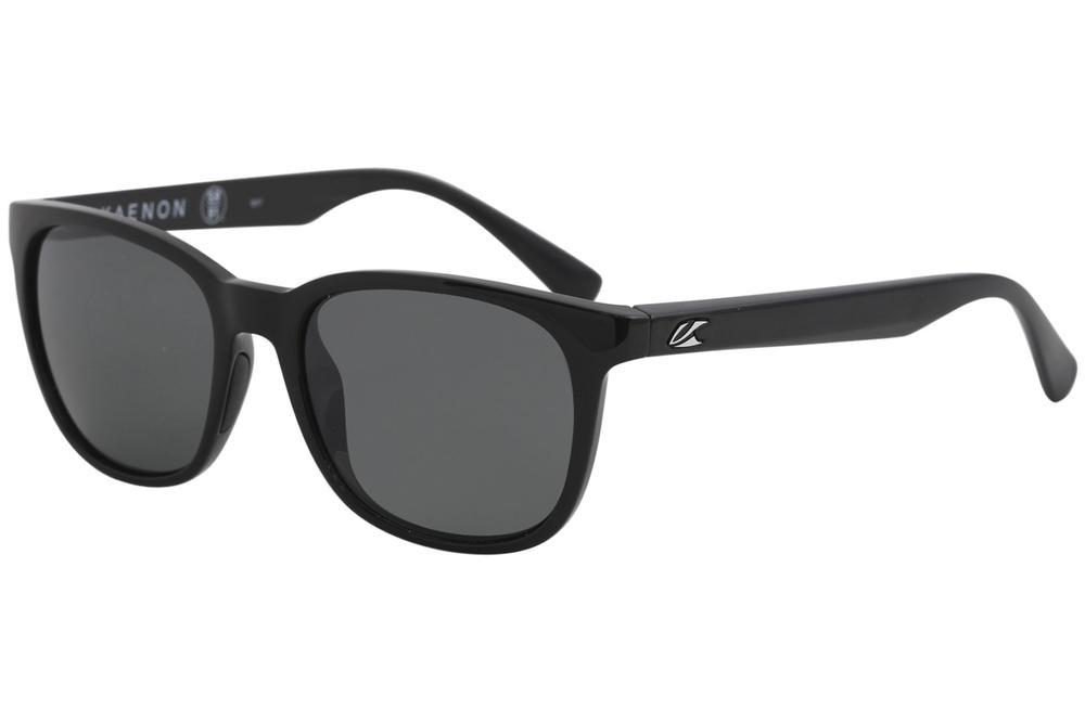 Image of Kaenon Calafia 041 Polarized Fashion Sunglasses - Black/Polarized Grey   G12 - Lens 51 Bridge 18 B 42.5 Temple 140mm