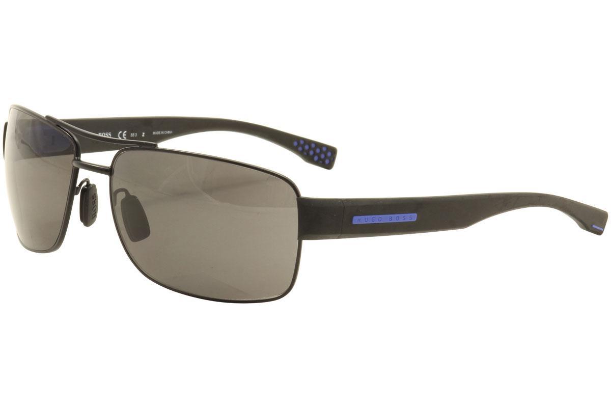 Hugo Boss Men's 0801S 0801/S Rectangle Sunglasses
