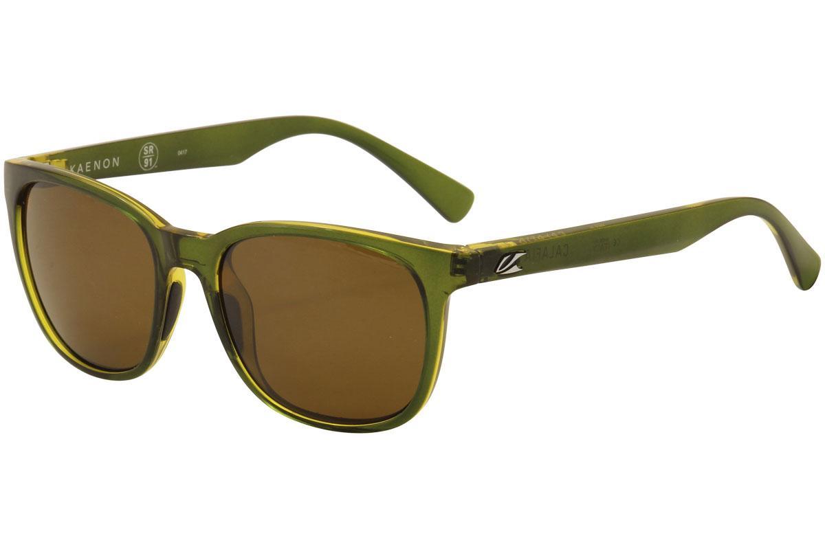 Image of Kaenon Calafia 041 Polarized Fashion Sunglasses - Sea Grass/SR 91 Brown Polarized Lens   B120  - Lens 51 Bridge 18 Temple 139mm