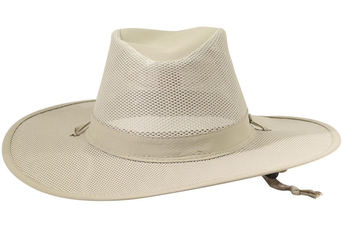 8767b04ab29 Stetson Men s No Fly Zone Insect Repellent Big Brim Mesh Traveler Hat by  Stetson. 123456