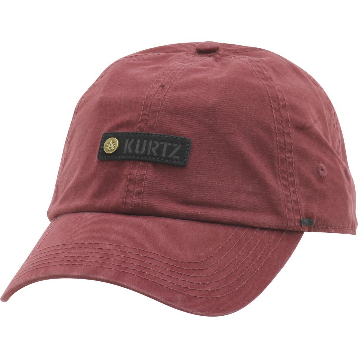 Image of Kurtz Men's Chino Corps Baseball Cap Hat - Steeled Crimson  - One Size Fits Most