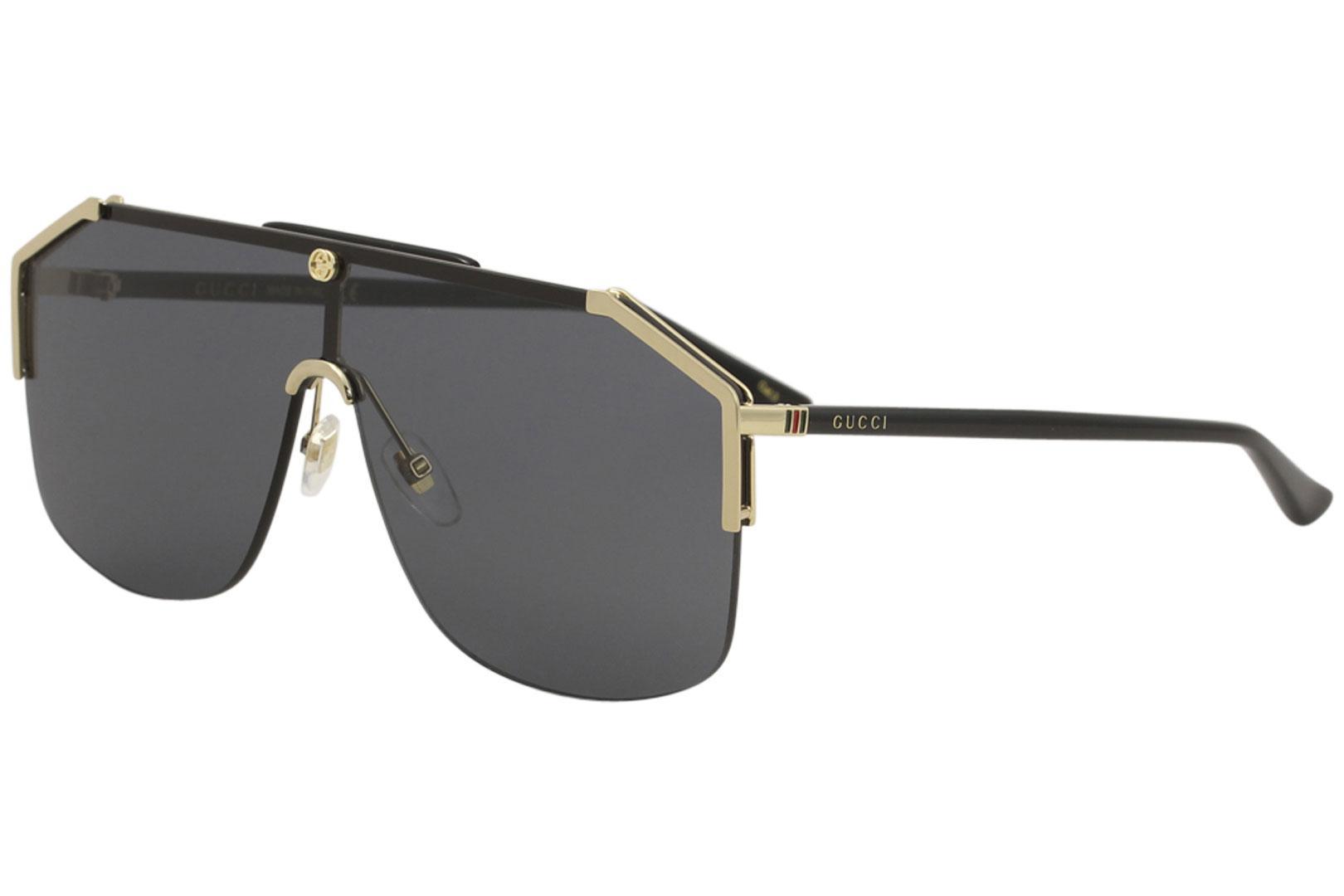 Gucci GG0291S 001 Gold/Black Fashion Shield Sunglasses