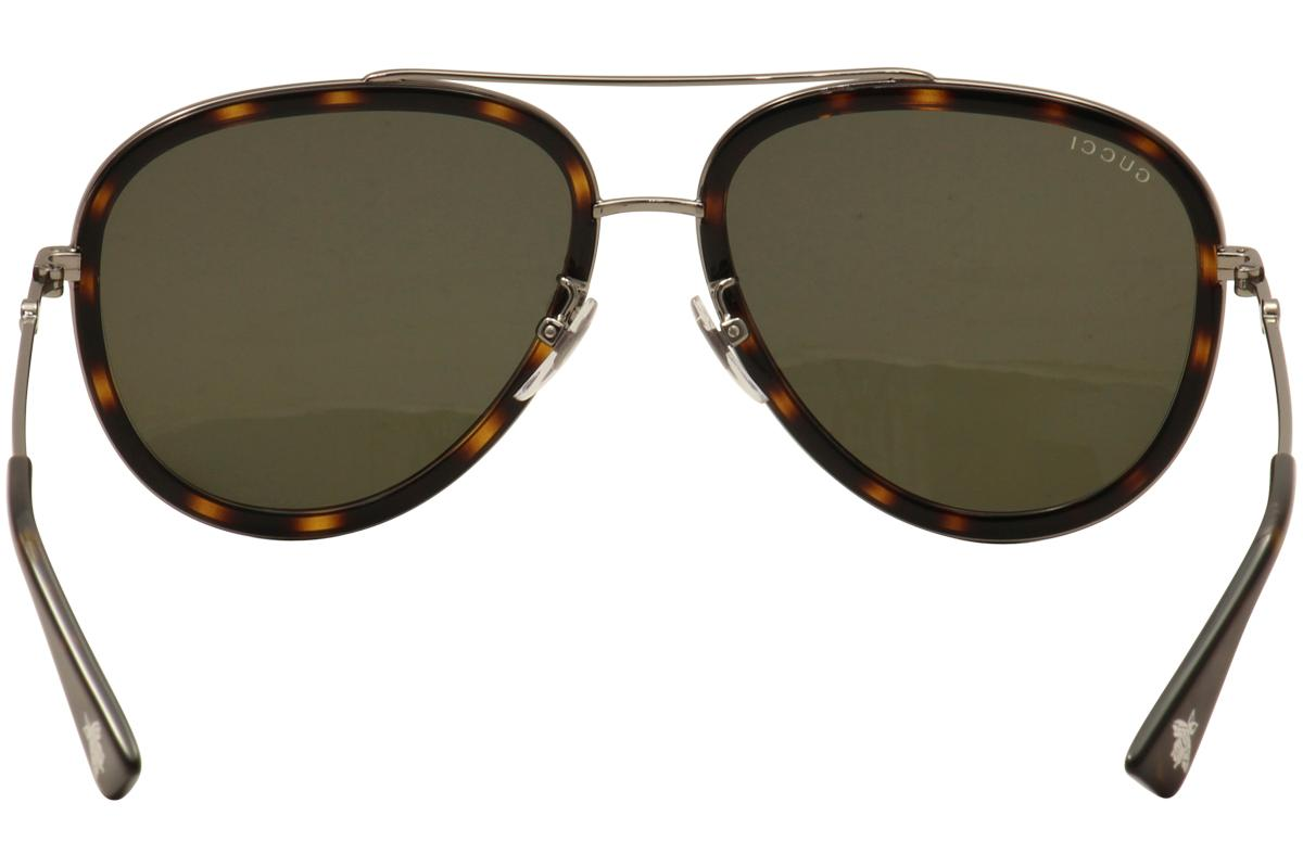 422fd301d21 Gucci Women s GG0062S GG 0062 S Pilot Sunglasses by Gucci