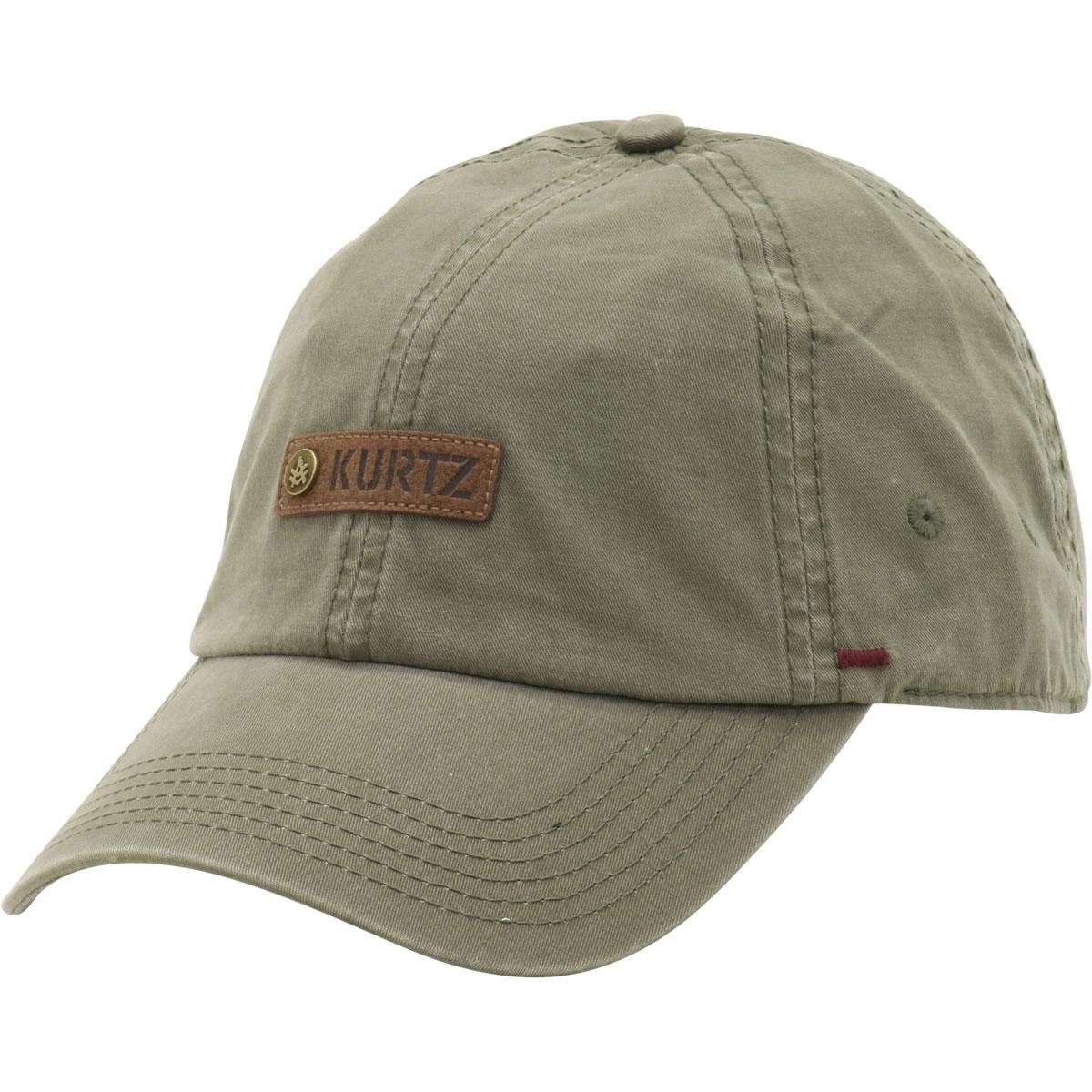 Image of Kurtz Men's Chino Corps Baseball Cap Hat - Olive Drab - One Size Fits Most