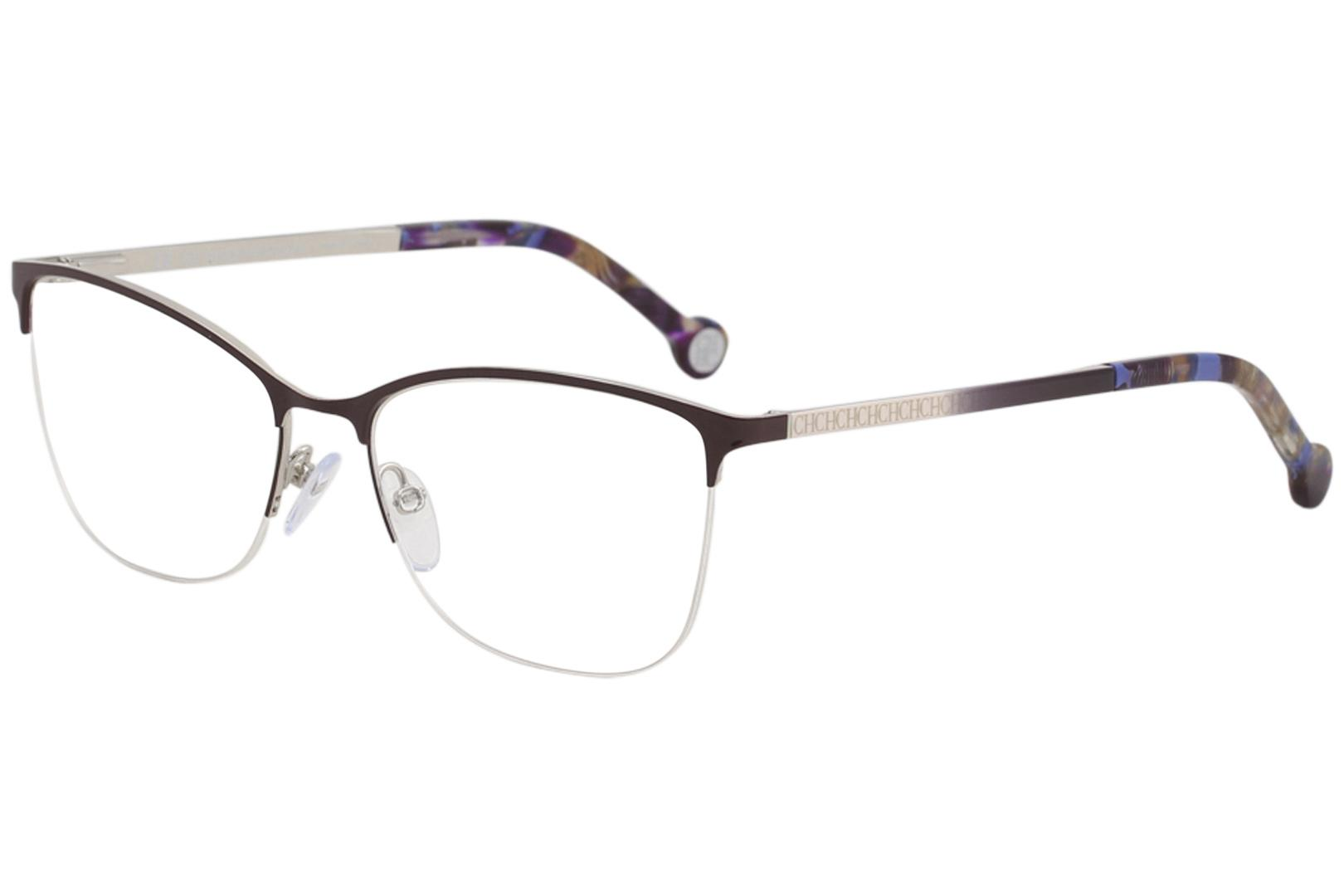 Image of CH Carolina Herrera Eyeglasses VHE108K VHE/108K 0SDA Burgundy Optical Frame 54mm - Burgundy   0SDA - Lens 54 Bridge 16 B 40 ED 61 Temple 135mm