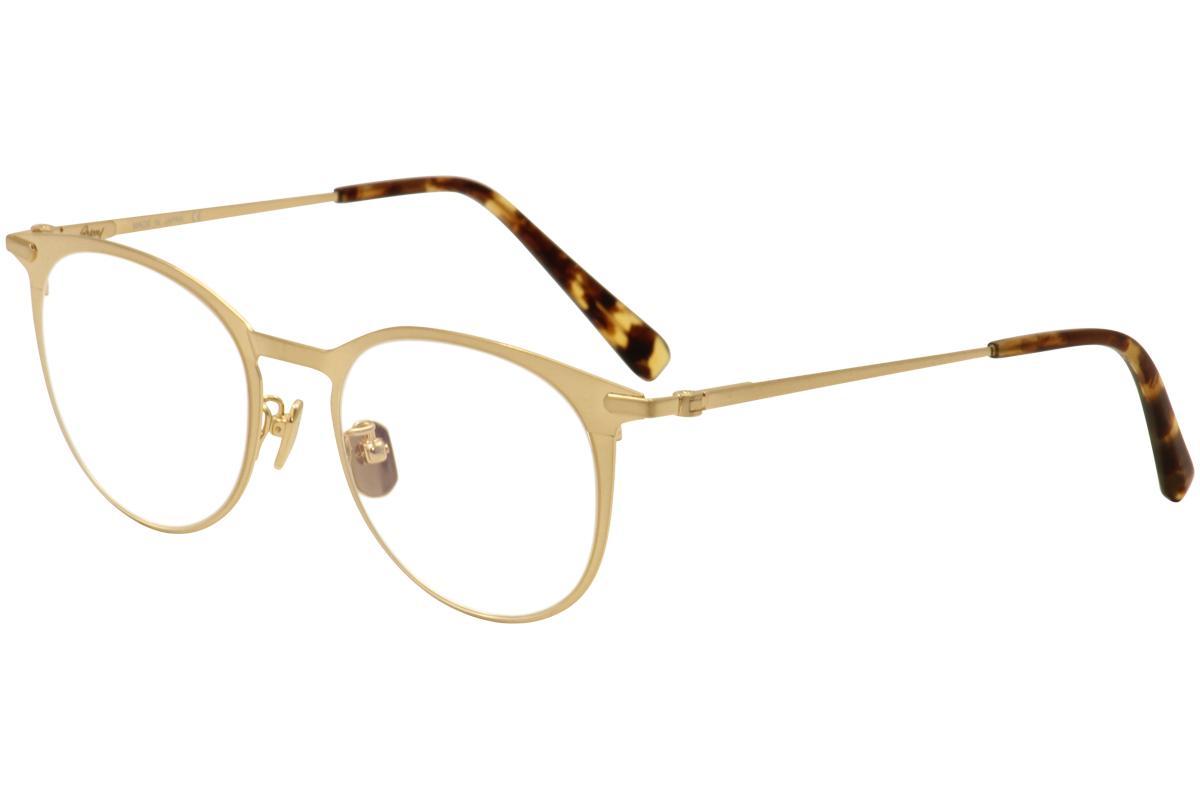 Image of Brioni Men's Eyeglasses BR 0012O 0012/O Titanium Full Rim Optical Frame - Gold - Lens 51 Bridge 19 Temple 145mm