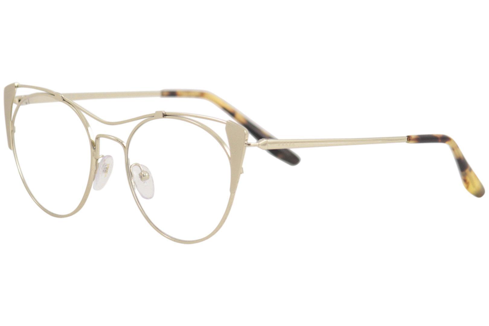 264e9f90362 Prada Eyeglasses VPR58V VPR 58 V 331 1O1 Matte Pale Gold Optical ...