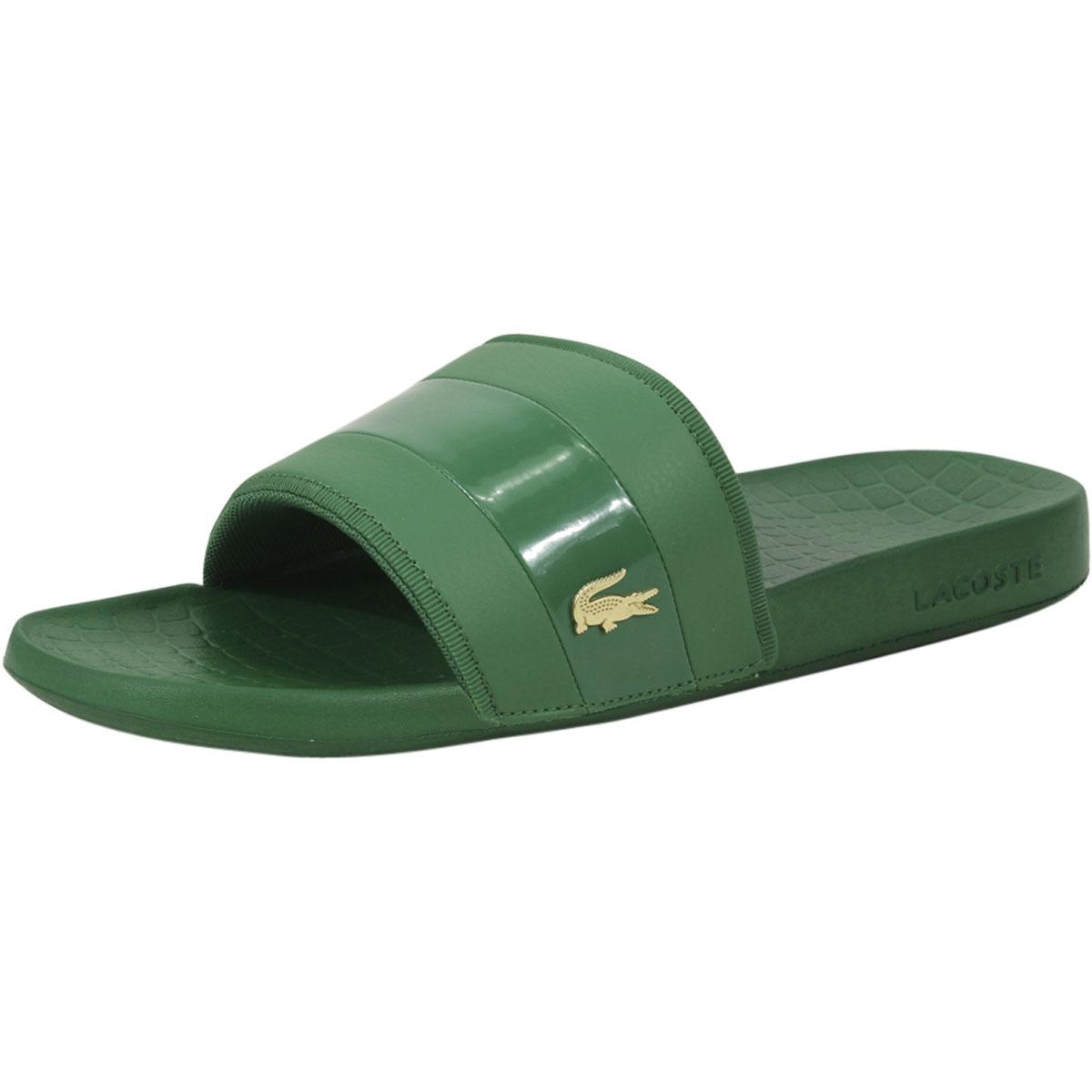Lacoste Men's Frasier-118 Logo Slides Sandals Shoes