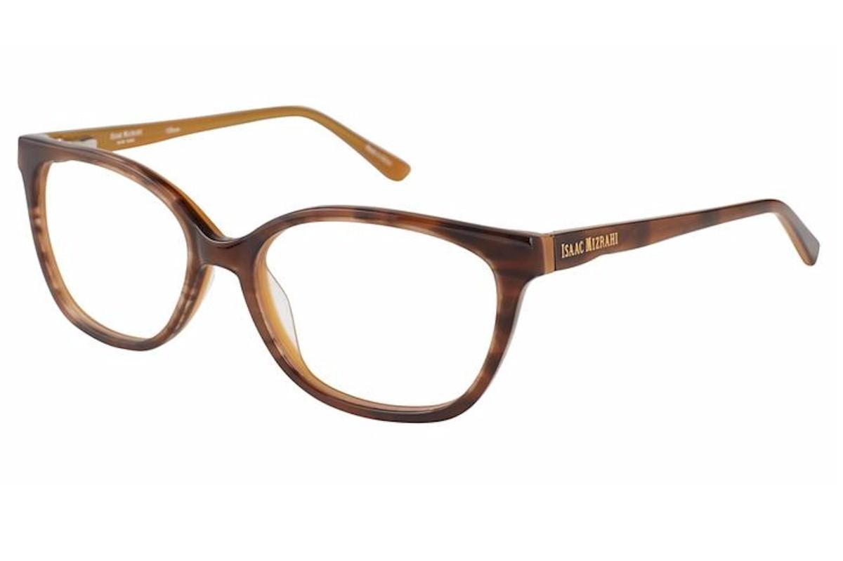 Image of Isaac Mizrahi Women's Eyeglasses IM30014 IM/30014 Full Rim Optical Frame - Brown - Lens 53 Bridge 16 Temple 135mm