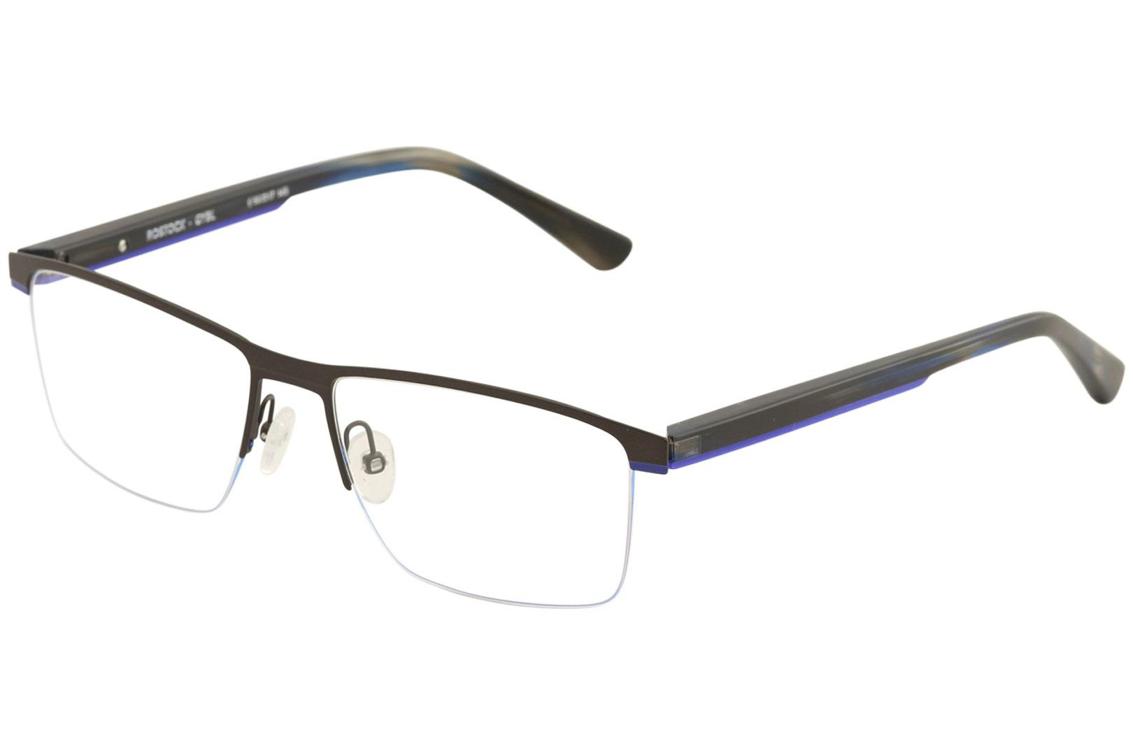 Image of Etnia Barcelona Men's Eyeglasses Rostock Full Rim Optical Frame - Grey/Blue   GYBL - Lens 56 Bridge 17 Temple 145mm