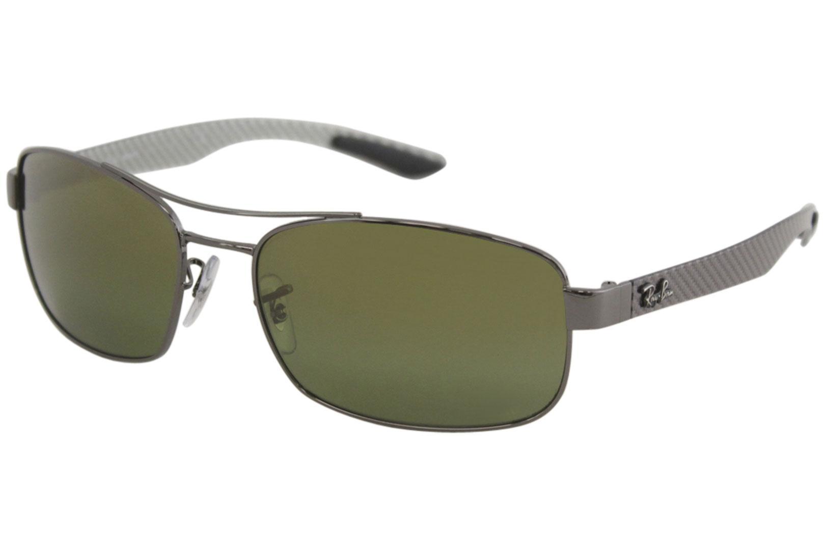 3c38e557ce Ray Ban Chromance RB8318CH RB 8318 CH RayBan Rectangle Polarized Sunglasses