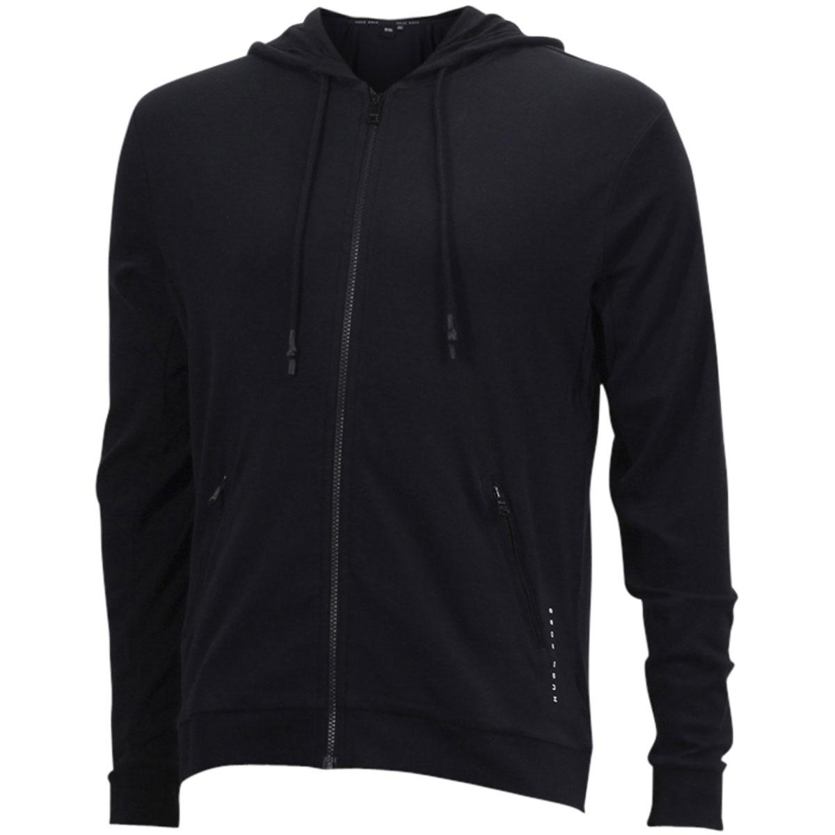 cb989531d Hugo Boss Men's Interlock Cotton Zip-Through Hooded Sweatshirt Jacket