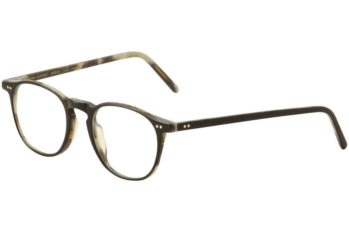 Image of Lafont Reedition Women's Eyeglasses Socrate Full Rim Optical Frame - Black/Ivory Marble   1039  - Lens 49 Bridge 20 Temple 145mm