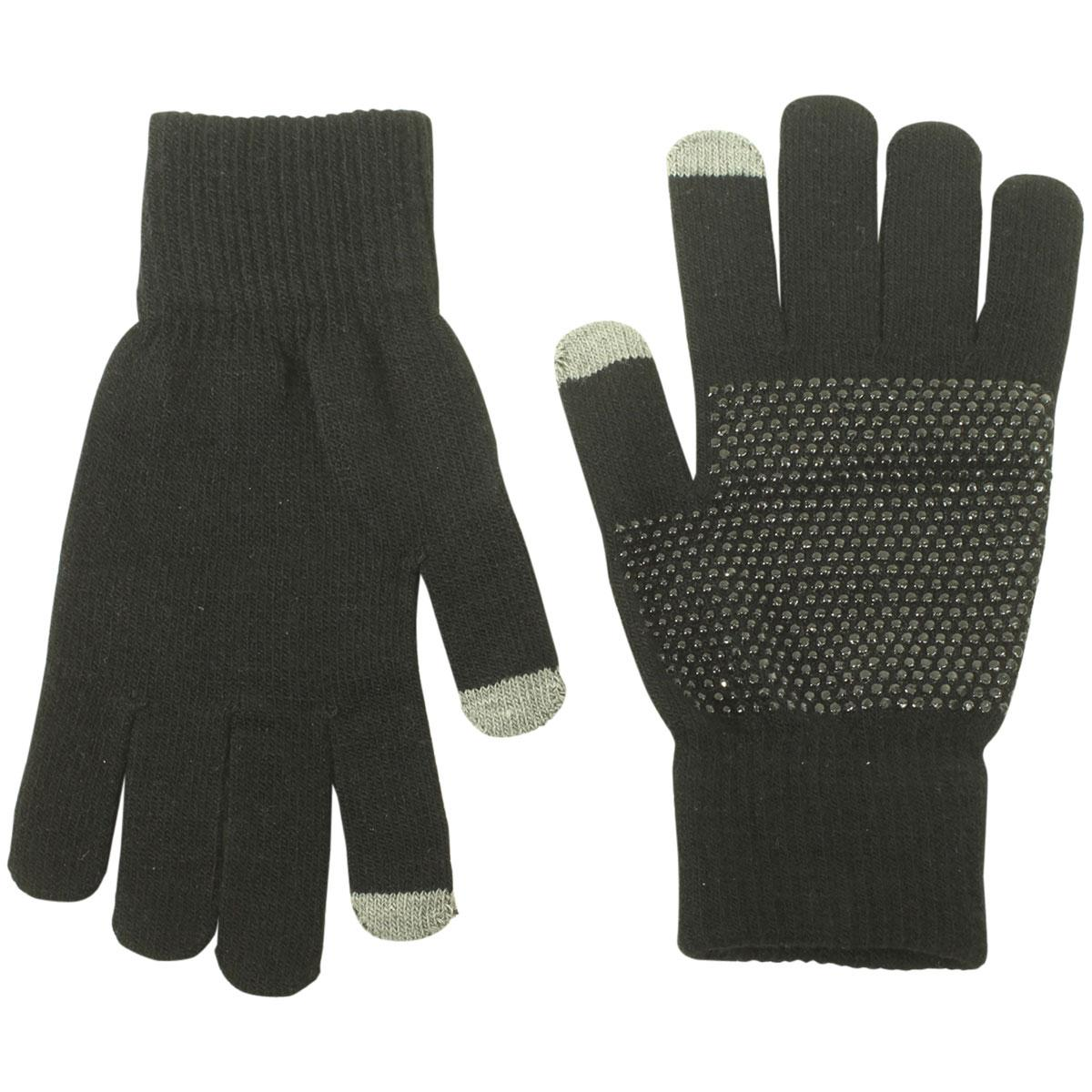 Image of Dorfman Pacific Men's Touchscreen Magic Knit Gloves - Black - One Size Fits Most