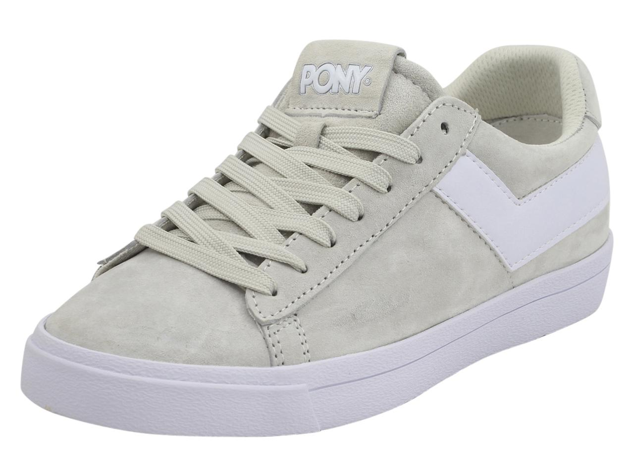 Image of Pony Women's Top Star Lo Core Suede Sneakers Shoes - Beige - 7 B(M) US