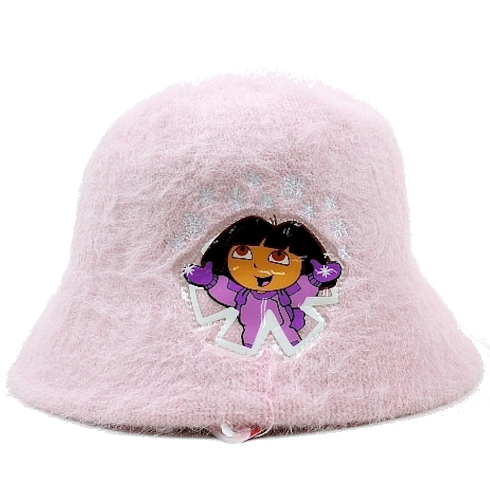 Image of Dora The Explorer Girl's Mohair Bucket Hat - Pink - One Size Fits Most