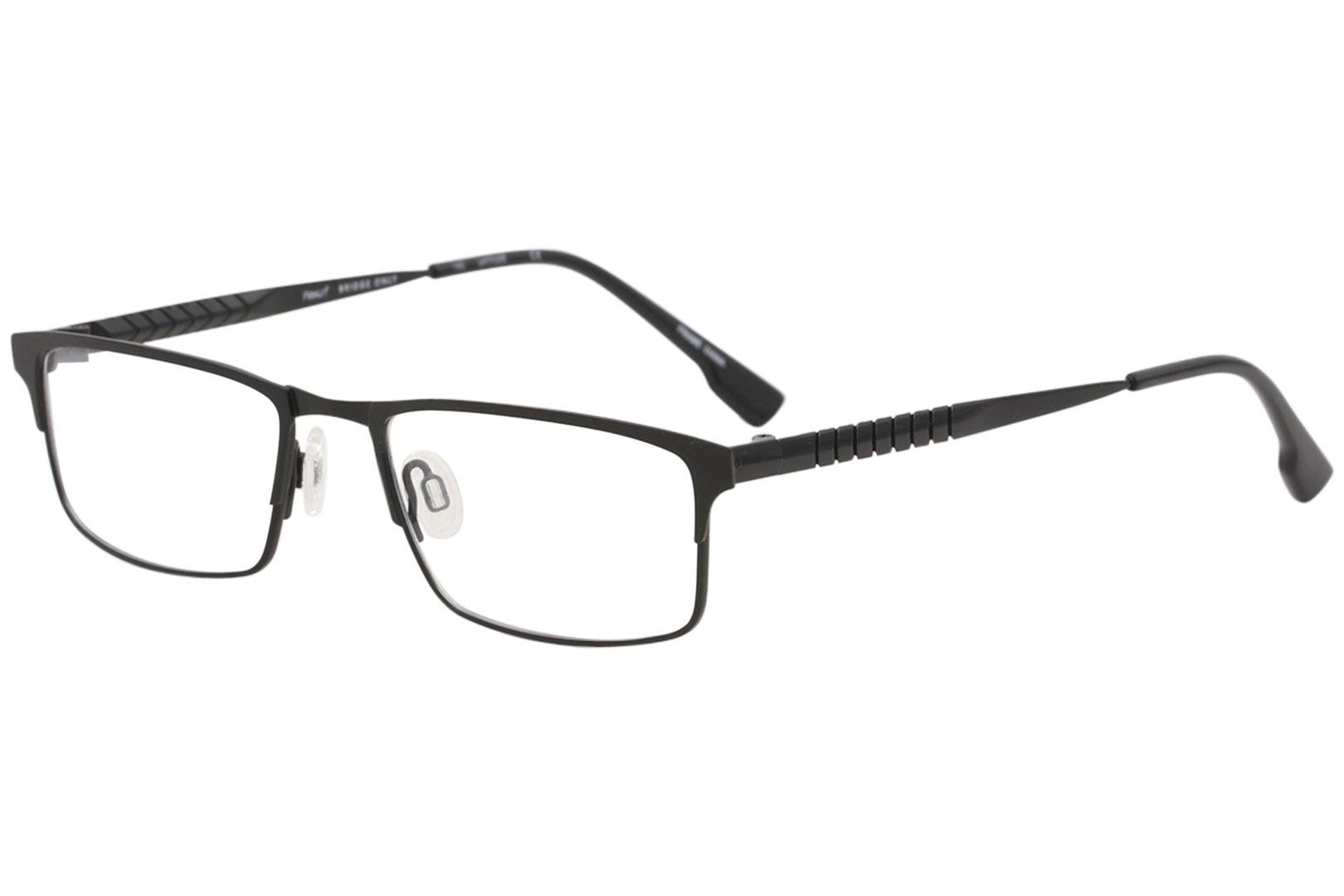 Image of Flexon Eyeglasses E1010 E/1010 001 Black Chrome Full Rim Optical Frame 53mm - Black Chrome   001 - Lens 53 Bridge 18 Temple 140mm