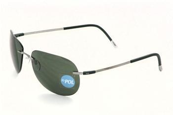 10d2f158f3 SILHOUETTE 8623 Titan X 6150 Aviator Polarized Green Sunglasses