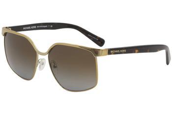 00522835eb Michael Kors August MK1018 MK 1018 1145T5 Pale Gold Square Sunglasses 56mm